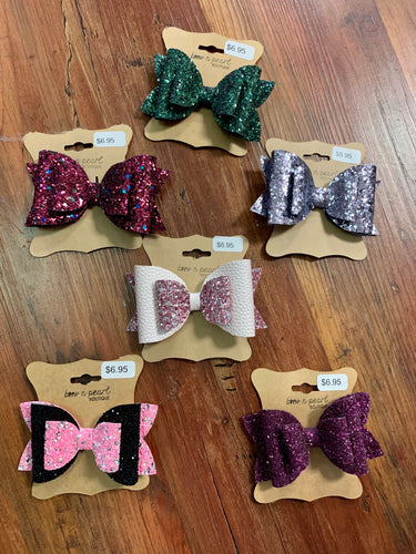Large Triple-Stack Glitter Bows