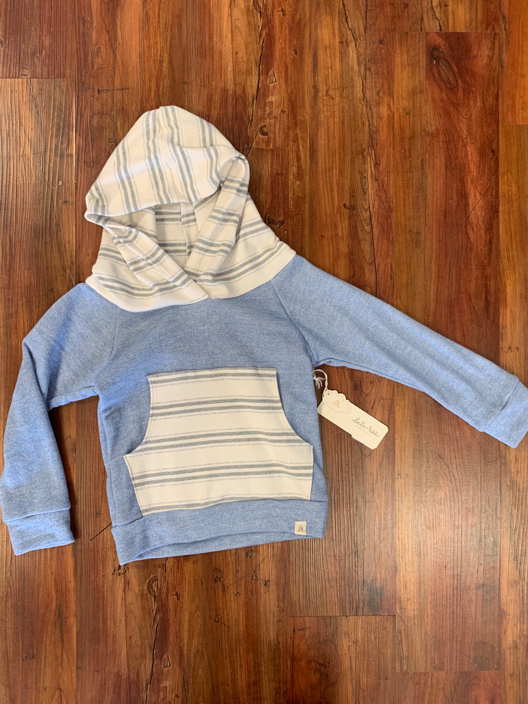 Blue and Gray Hoodie - 50% Off