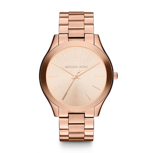Michael Kors Women's Mini Slim Runway Rose Gold-Tone Watch