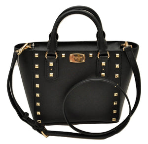 Michael Kors Sandrine Stud Small Crossbody Saffiano Leather Bag