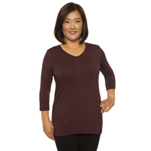Covered Perfectly Simple V-neck Top