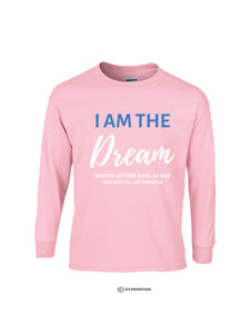 I Am The Dream Long Sleeve Shirt - Light Pink