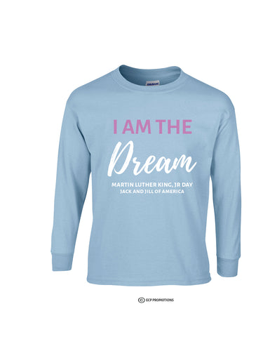 I Am The Dream Long Sleeve Shirt - Light Blue