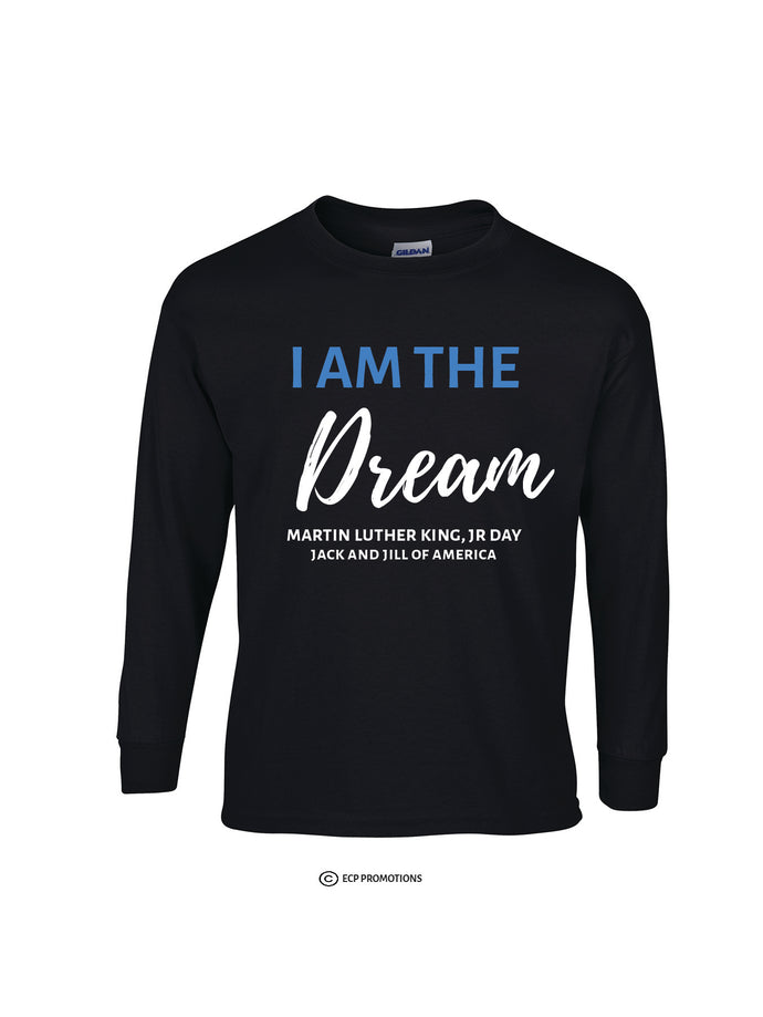 I Am The Dream Long Sleeve Shirt - Black