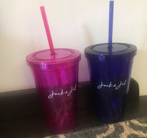 16 oz Tumbler with Straw