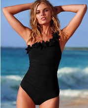 Solid Halter One-Piece  PLUS SIZE to 3XL