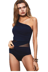 One Shoulder Swimsuit  **PLUS SIZE to 2XL**