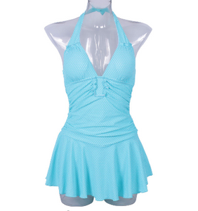 Halter Swim Dress **PLUS SIZES to 3XL**