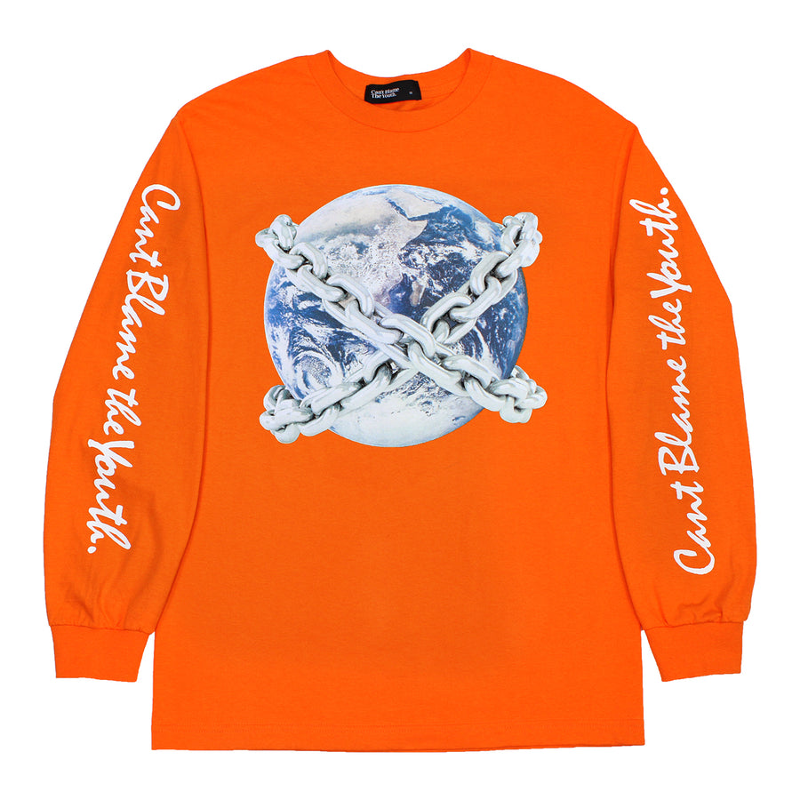 CBTY-EARTH CHAINS-L/S-ORANGE