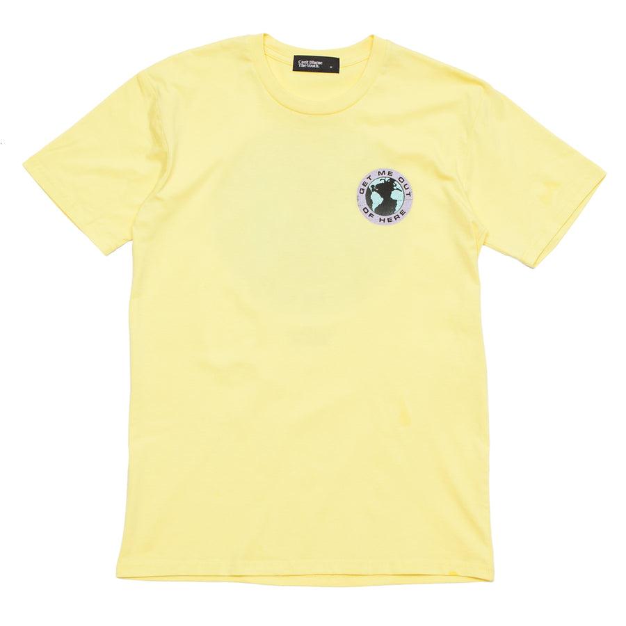 CBTY-GET ME OUT-TSHIRT-YELLOW