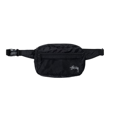 STUSSY-LIGHTWEIGT WAIST BAG-BLACK