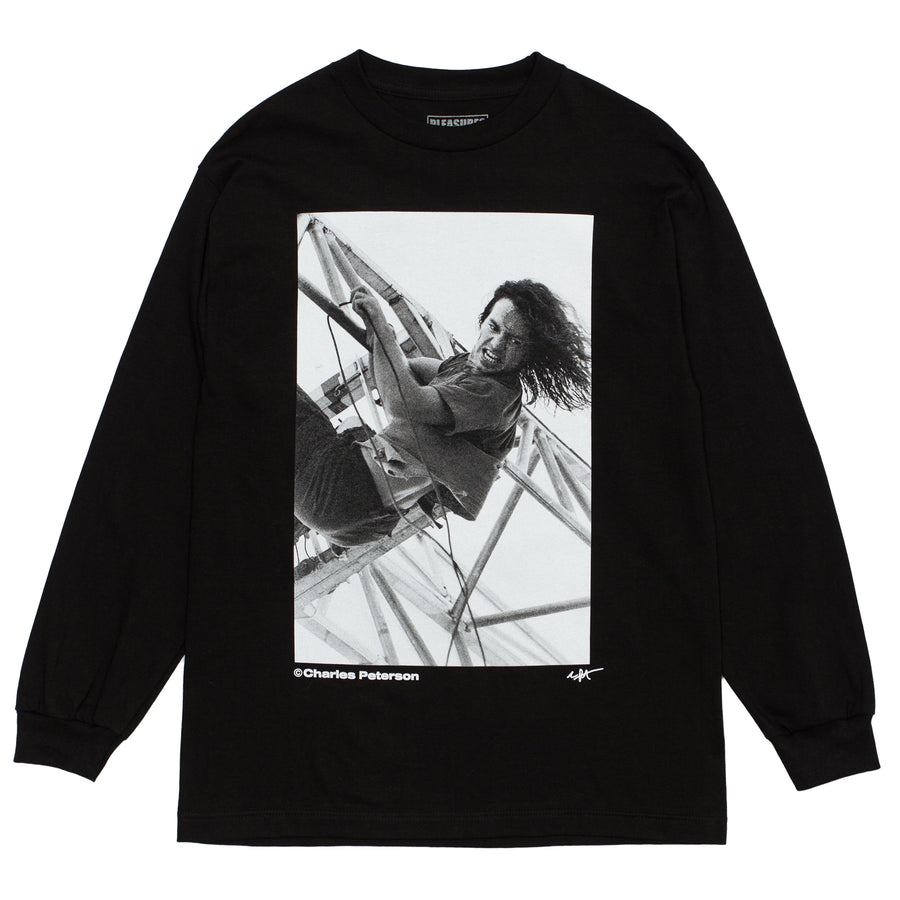 CBTY X PLEASURES X PETERSON-IN THE PARK-L/S TSHIRT-BLACK