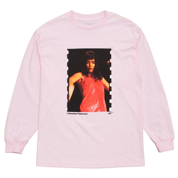 CBTY X PLEASURES X PETERSON-QUIET-L/S TSHIRT-PINK