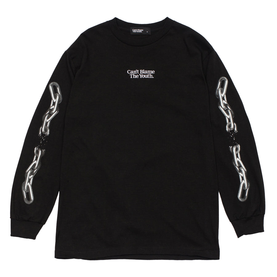 CBTY-BROKEN CHAINS-L/S TSHIRT-BLACK