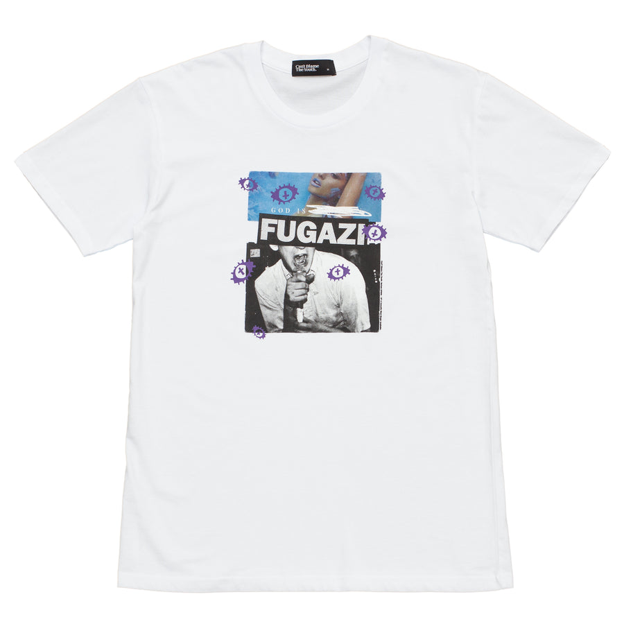 CBTY-GOD IS FUGAZI-TSHIRT-WHITE