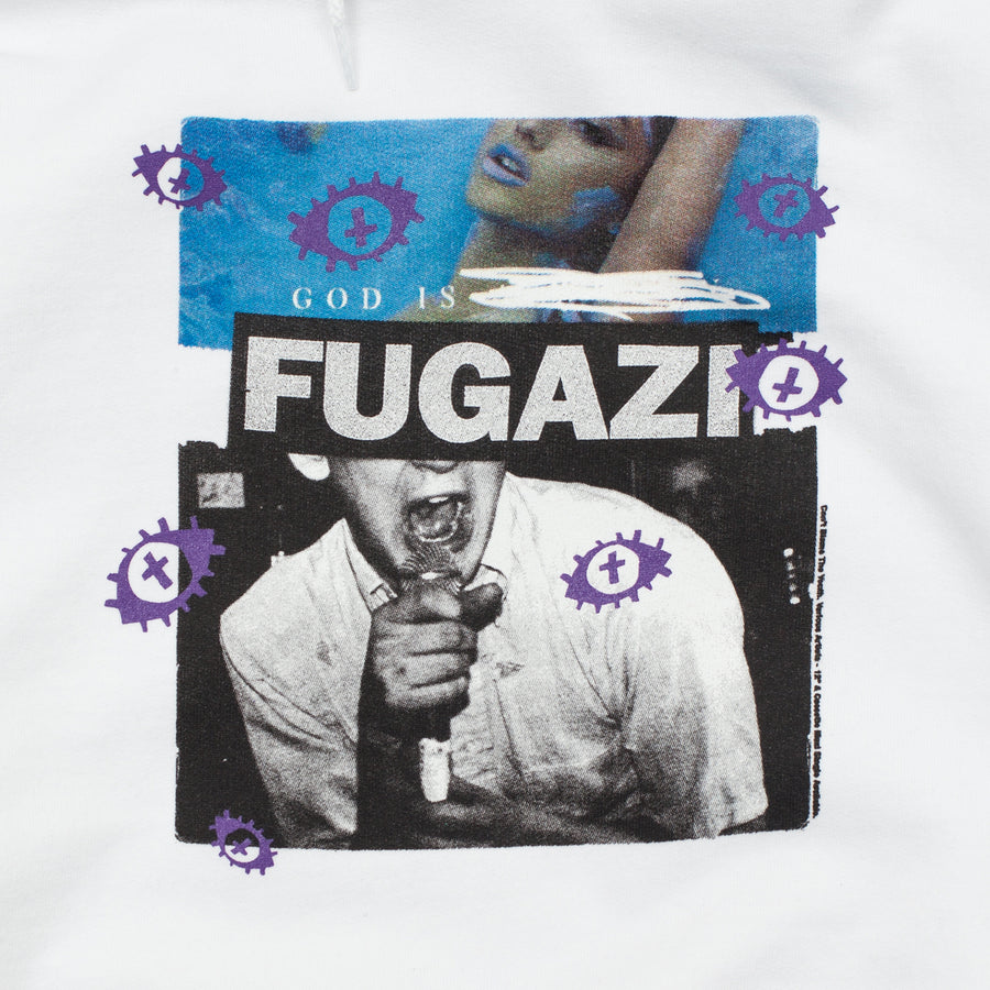 CBTY-GOD IS FUGAZI-PULLOVER-WHITE