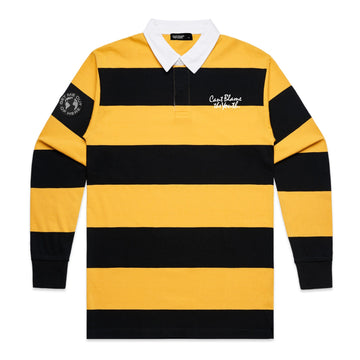 CBTY STRIPED RUGBY POLO (BLACK/YELLOW)