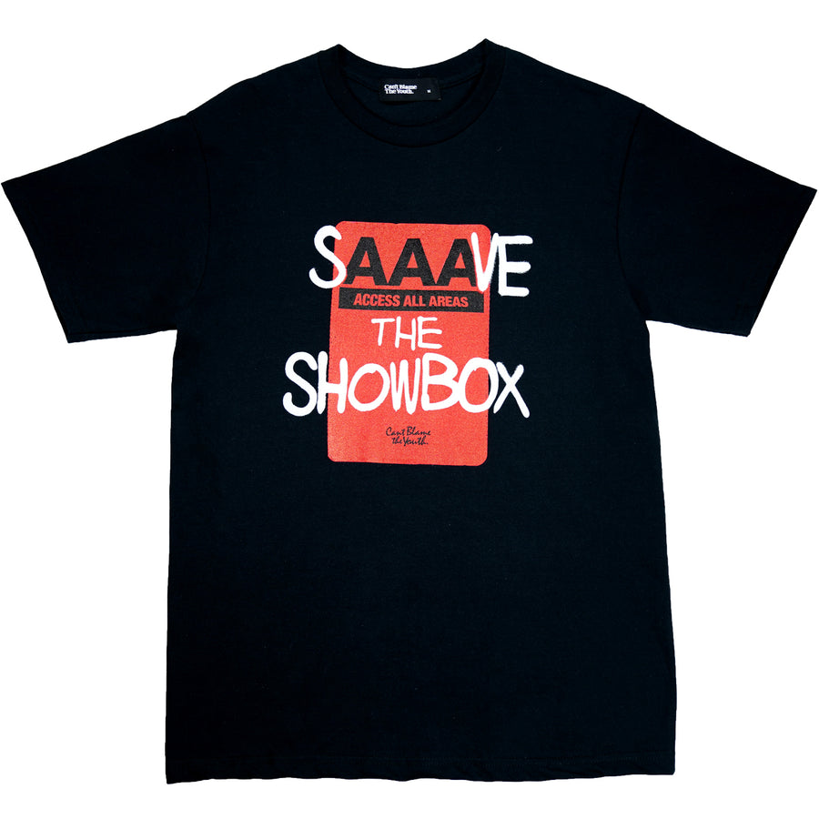 CBTY-AAA SHOWBOX-T-SHIRT-BLACK