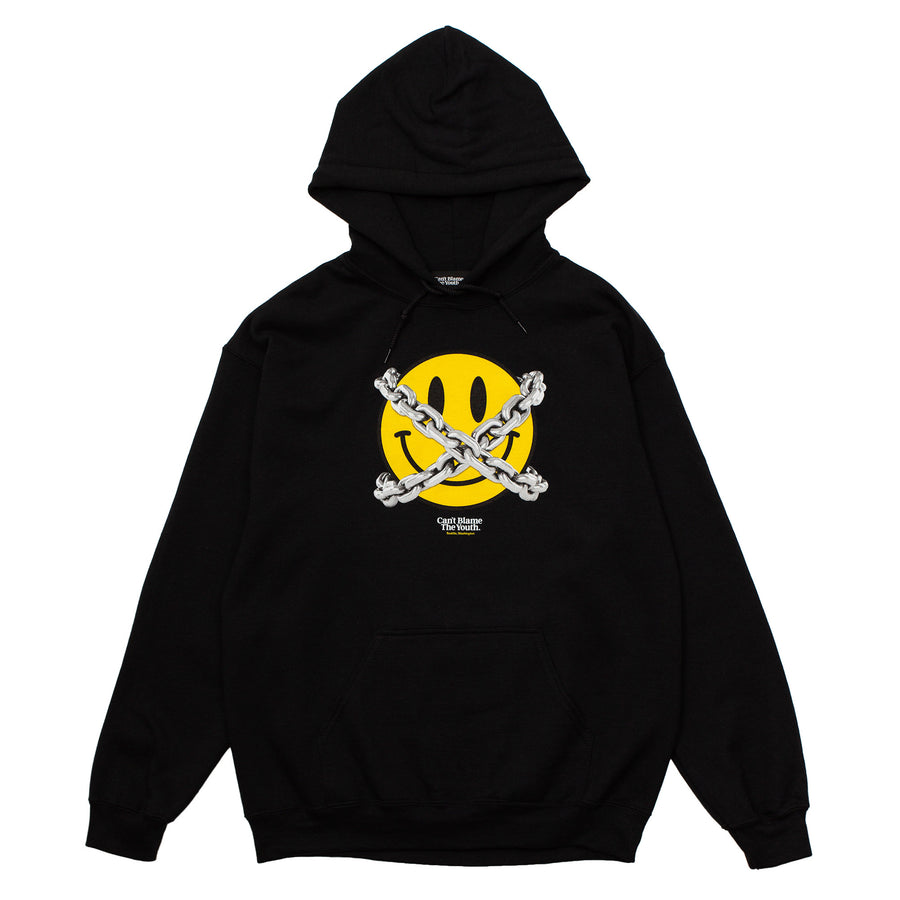 CBTY-DONT SMILEY HOODY-F/W19-BLACK