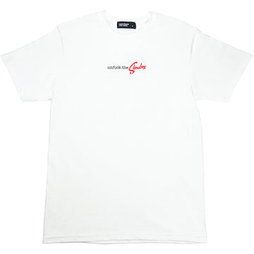 CBTY-UNFUCK THE SHOWBOX-T-SHIRT-WHITE