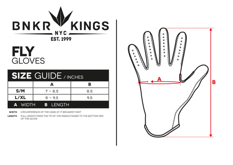 Size Guide Fly Glove