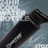 Virtue Stainless Steel 24Hr Cool Water Bottle - 37oz - Black