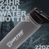 Virtue Stainless Steel 24Hr Cool Water Bottle - 22oz - Gray