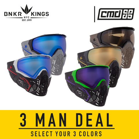 Bunkerkings CMD Goggle - 3man Pack