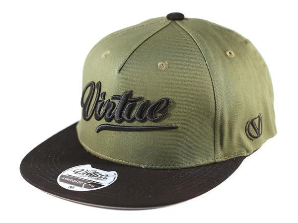 Virtue Renegade All Star Fitted Hat - Black / Olive Drab