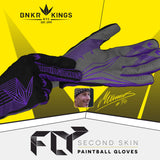 Bunkerkings Fly Paintball Gloves - Purple