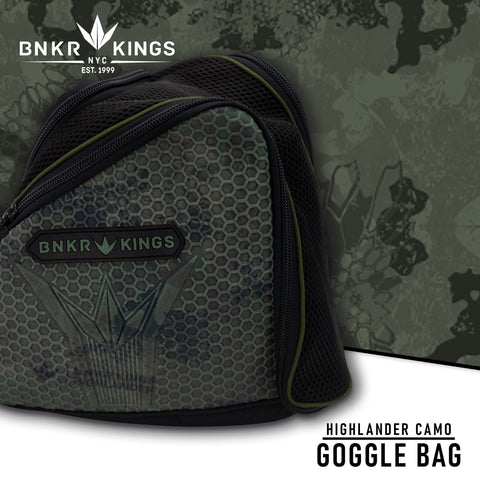 Bunkerkings Supreme Goggle Bag - Highlander Camo