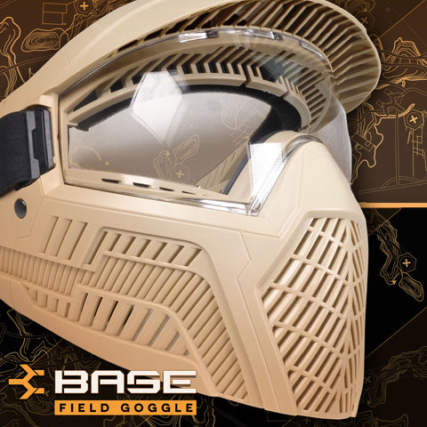 Base Anti-Fog Field Paintball Goggle - FDE