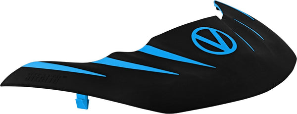 Virtue VIO Stealth Visor - Cyan/Black