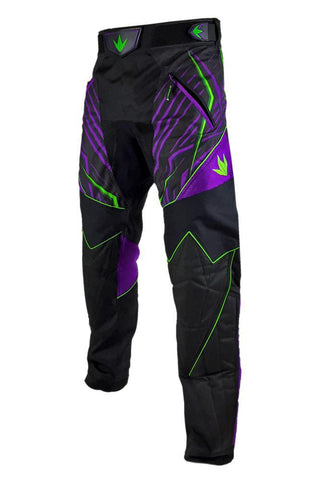 zzz - Bunkerkings Supreme Pants - Purple/Lime - 2XL