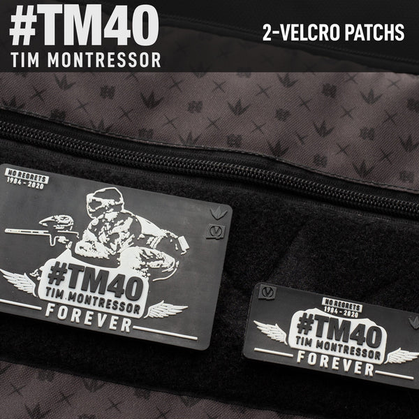 Tim Montressor #TM40 Forever Rubber Velcro Patch - 2 Pack - Black