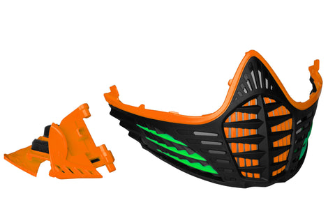 VIO Contour Facemask - Orange/Lime/Black