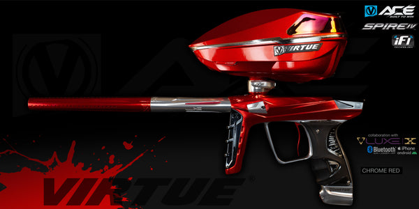 Virtue Ace + Spire IV Loader w/ iFI - Chrome Red - Marker + Loader (Only 50 Made)