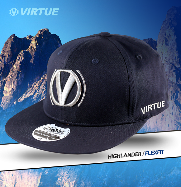 Virtue Highlander Fitted Hat - Navy Blue / Silver
