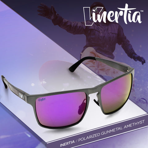 Virtue V-Inertia Polarized Sunglasses - Gunmetal Amethyst