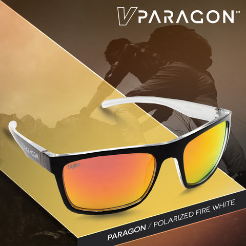 Virtue V-Paragon Polarized Sunglasses - Polished White Fire