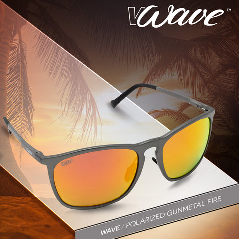Virtue V-Wave Polarized Sunglasses - Gunmetal Fire