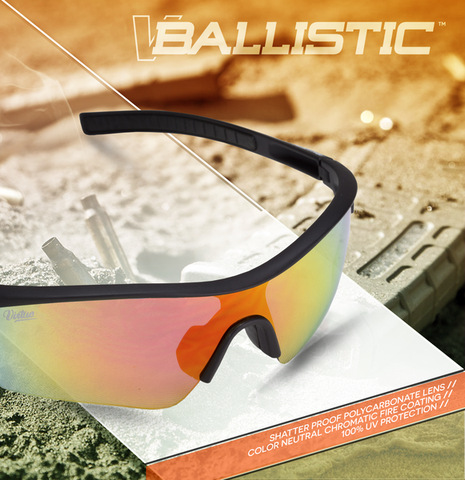 Virtue V-Ballistic Polarized Sunglasses - Black Fire