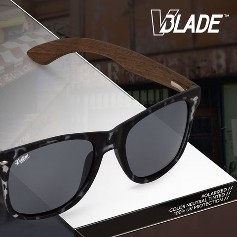 Virtue V-Blade Polarized Sunglasses - Dark Walnut Tortoise