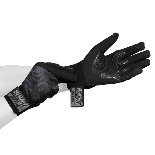 Virtue Breakout Gloves - Ripstop Full Finger - Black Camo