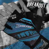Virtue Mesh Breakout Gloves - Half Finger - Graphic Blue