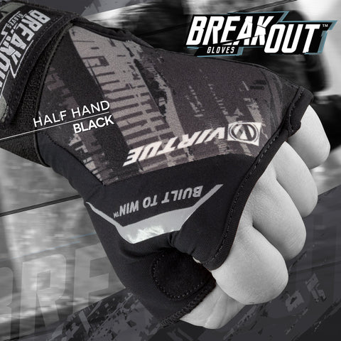 Virtue Breakout Gloves - Pro Half Hand - Graphic Black