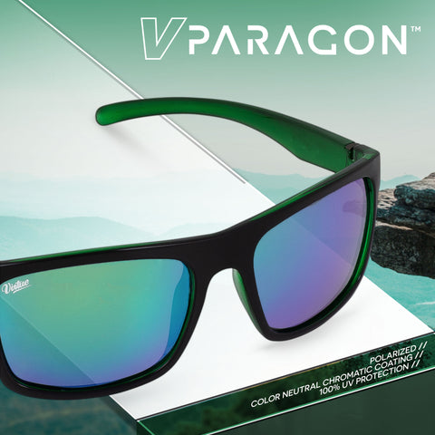 Virtue V-Paragon Polarized Sunglasses - Polished Emerald Black