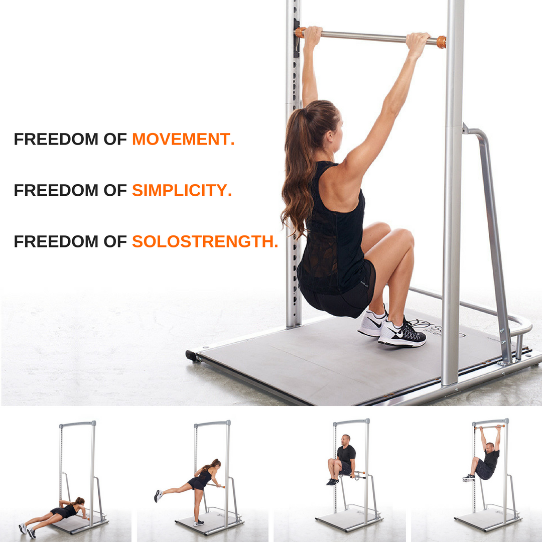 freestanding adjustable height pull up bar bodyweight training gym