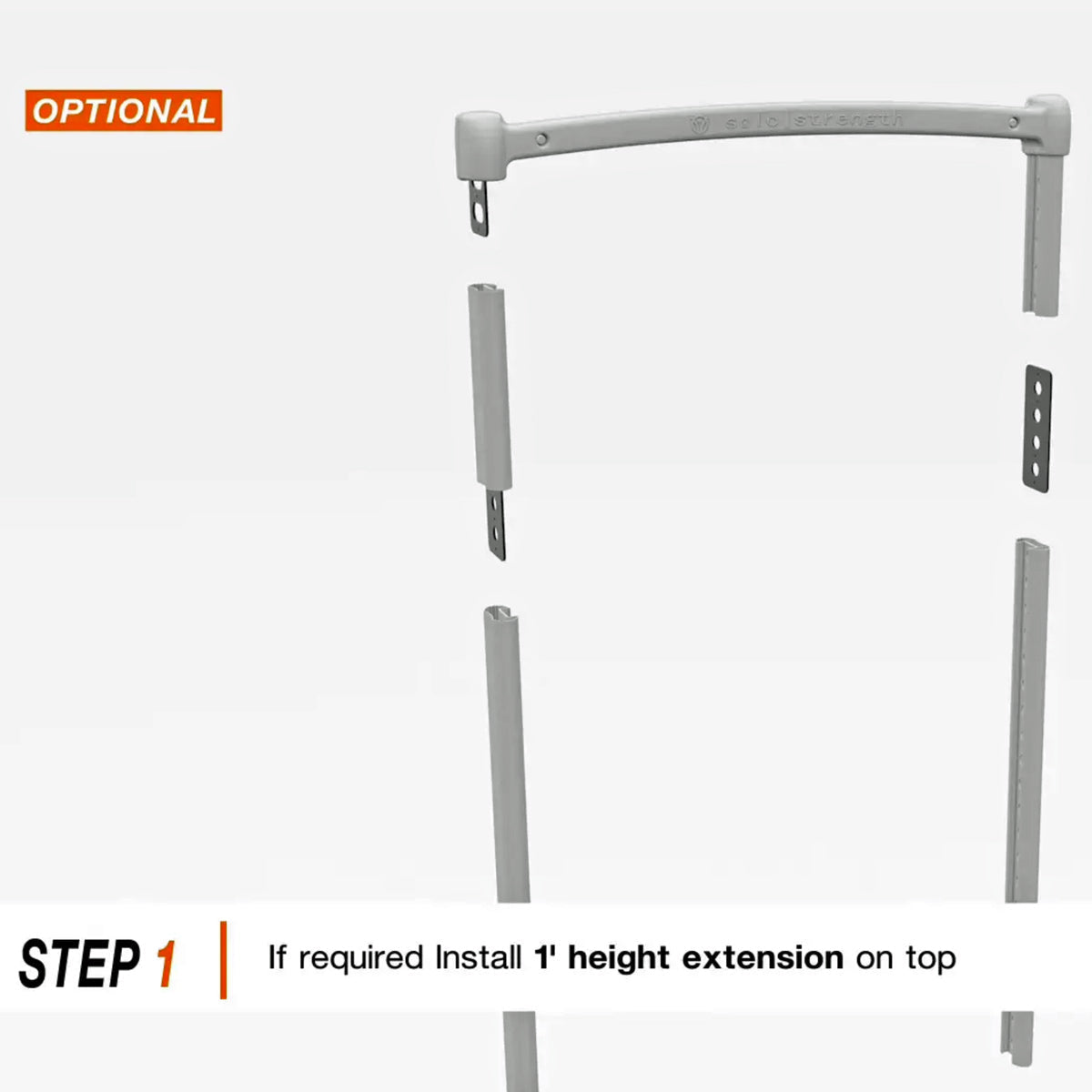 1 Foot Height Extension (Option to get 3rd and 4th level system heights) - SoloStrength