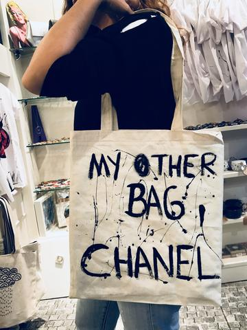 My Other Bag Chanel 2 - El Çizimi Bez Çanta